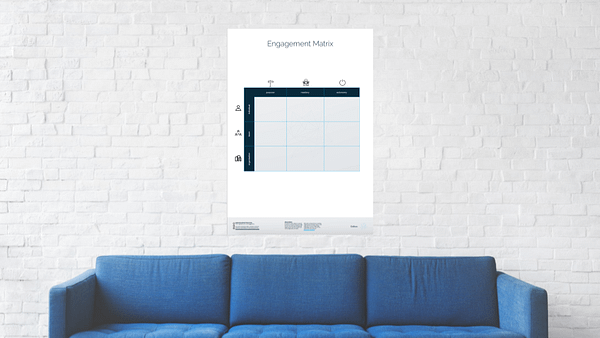 engagement matrix on the wall